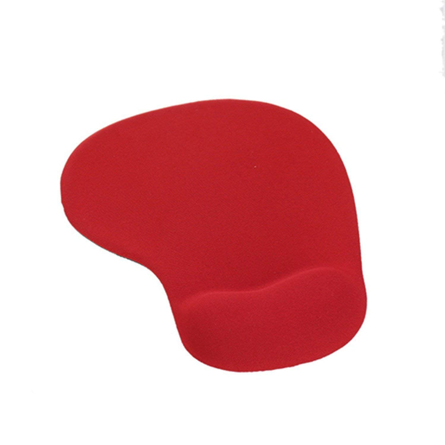 IVYRISE Mouse Pad with Wrist Support Black Silicone Gel Mouse Mat with Wrist Rests Support, Practical Non Slip Wrist Protect Wrist Support Mouse Mat, Red