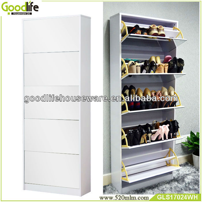 Goodlife 50 Pairs Mirror Sliding Door Shoe Cabinet Wooden Rack Large Racks Product On Alibaba