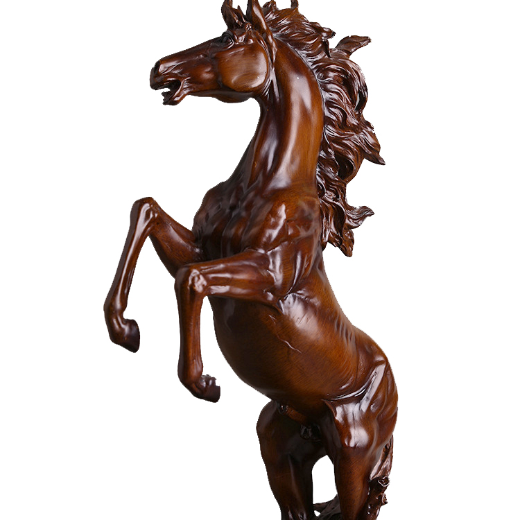Hochzeitsdekoration Harz fertigt europäische antike silberne Pferde-Hauptlieferungs-Dekoration