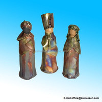 Ceramic Pottery 3-piece Magi Nativity Set