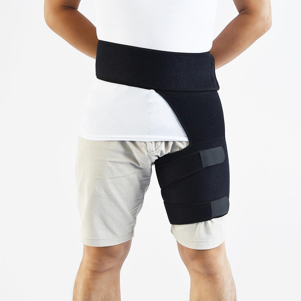 クワッドハムストリング関節圧縮ラップ坐骨神経痛神経疼痛緩和ストラップ股間ヒップ腿ブレースサポート