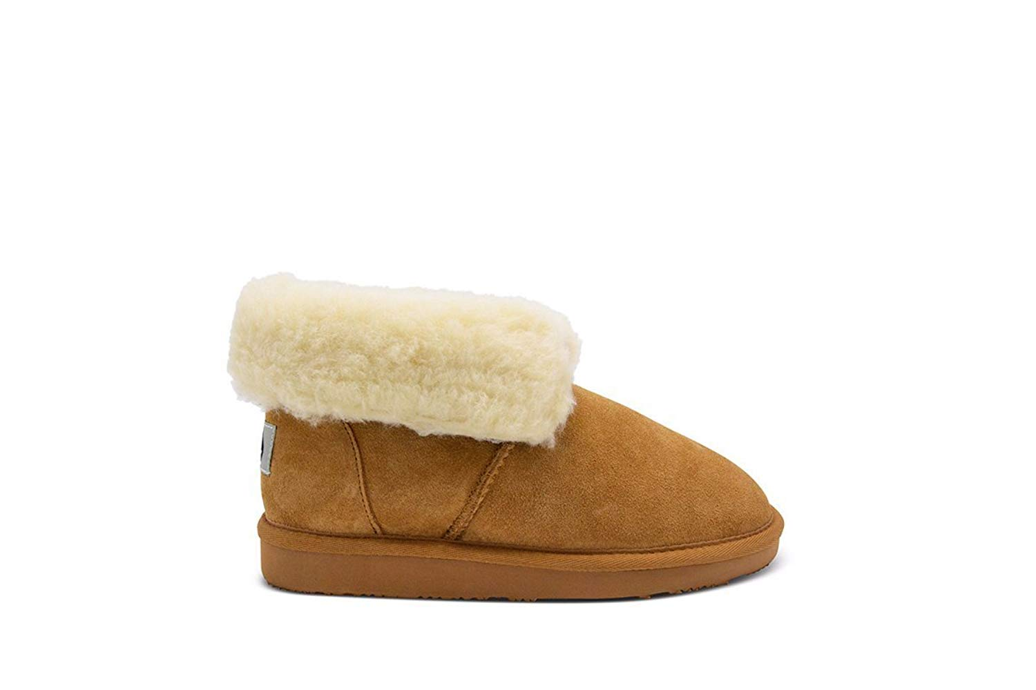 Aussie Merino Fur Lined Wool Slipper Cozy Indoor Warm House Slipper W/Indoor Outdoor Sole-Lily