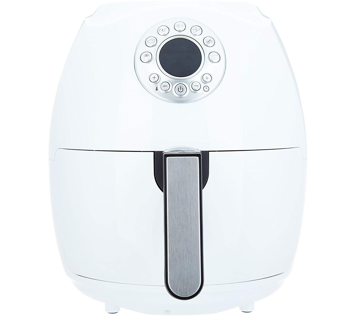 "Cook's Essentials 600187470292 3.4-Qt Digital w/Presets & Pans (White), Air fryer 12-1/2""H x 10-1/2""Diam, weighs 9 lbs"