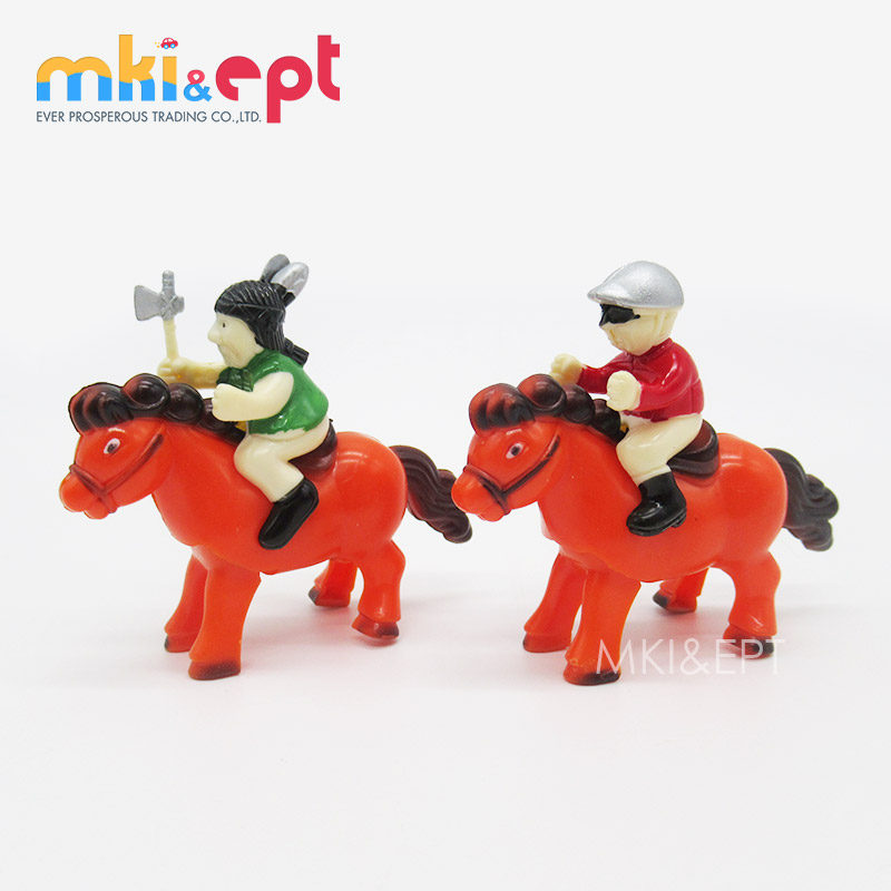 Promotional Toy Cheap Wind Up Toy Horses With Warrior