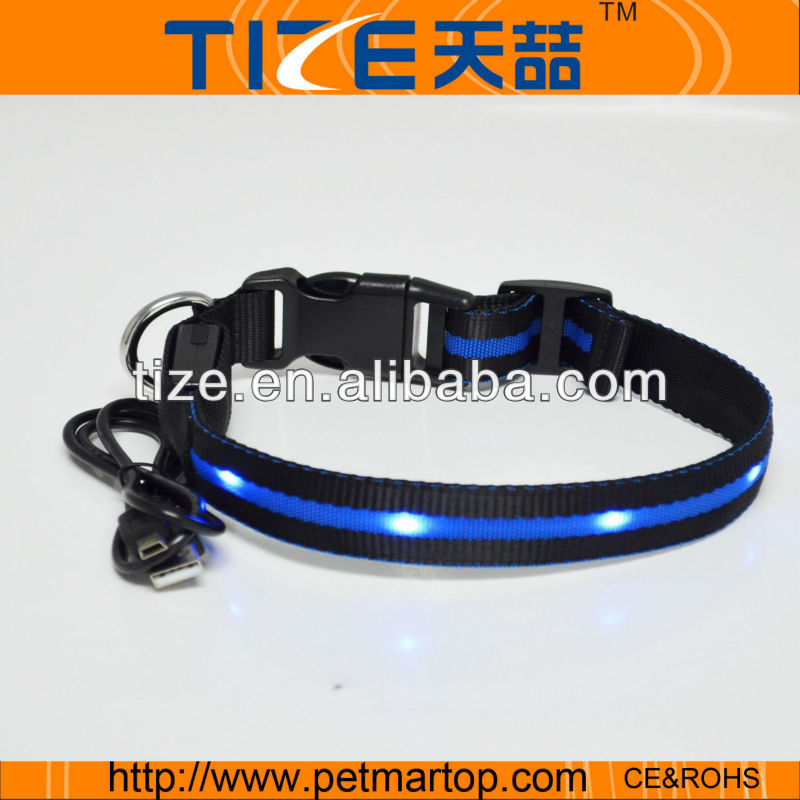rechargeable led dog collars in china TZ-PET6100U pet party collar