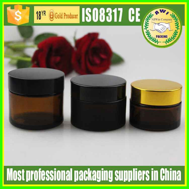 glass 50 ml crystal well design cosmetic cream glass jars with lid