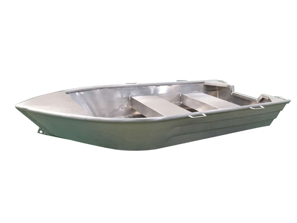 Aluminum fishing boat with bench seats