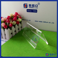 Yageli low price acrylic advertising table card tent supplier