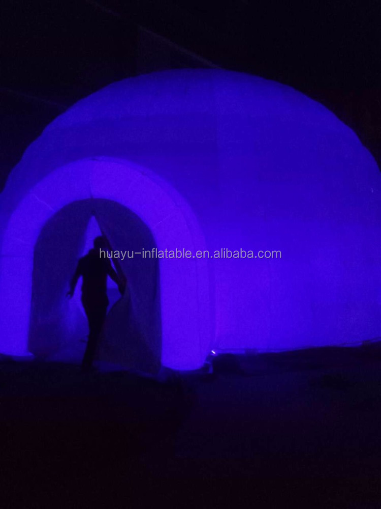 event inflatable tent with led light led lighting decoration tent used inflatable dome