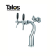 TALOS High-grade Pub and Bar Equipment 2 way Swan Beer Tower Beer Dispenser