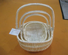 Wicker Knitting Basket