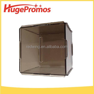 Personalized Floding Clear Plastic Square Money Box With Logo