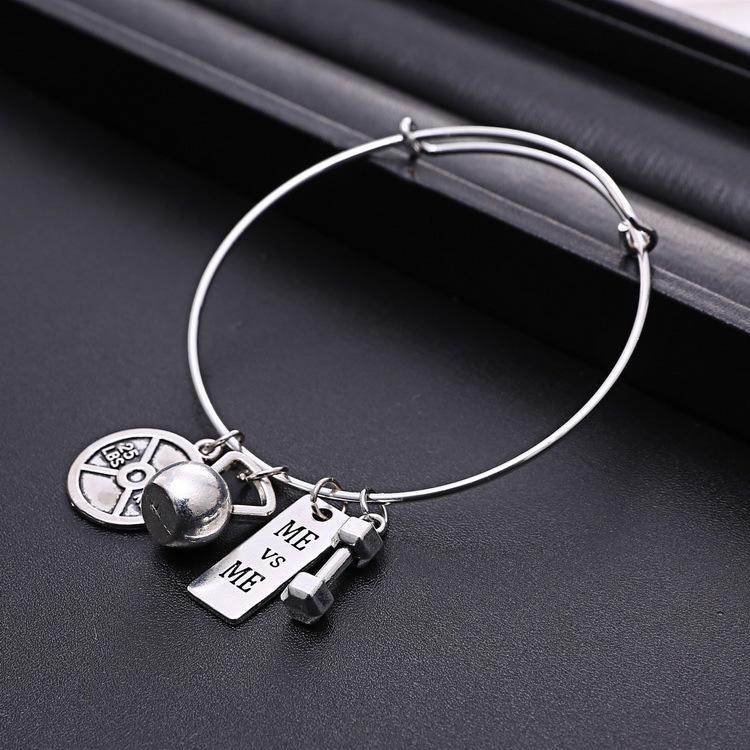 3ae5729bfef4 Pulsera fe carta letras de bendición chapados en plata deporte de ocio  pulsera con nombre