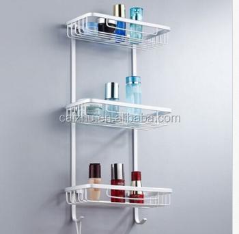 Stainless Steel Stair Step Design Wall Mounted Bathroom / Kitchen Shelf  Organizer Shelf
