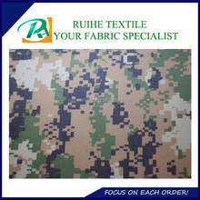100% Polyester woven fabric waterproof bag material /polyester oxford camouflage fabric