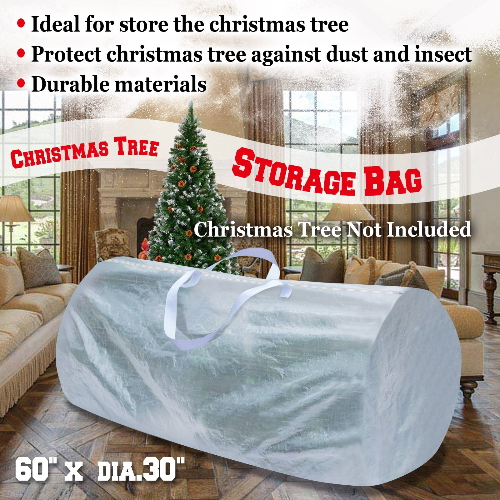 Get Quotations · Strong Camel Large Artificial Christmas Tree Storage Bag  WHITE For Up To 9ft Tree