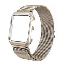 Magnetic Milanese Strap Stainless Steel Loop Watchband with Frame Replacement Bracelet for Apple Watch