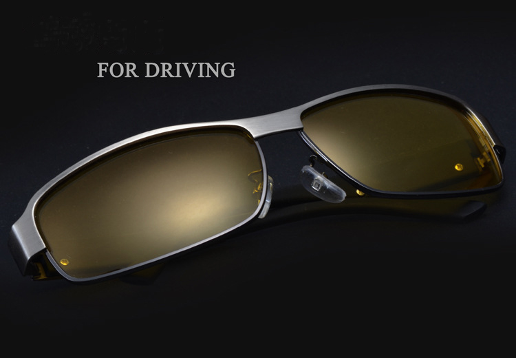 2018 Yellow Polarized Sunglasses Men Women Brand Designer Night Vision Goggles Driving Glasses Driver Polaroid Sun Glasses UV400