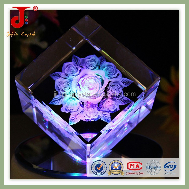 Square crystal wedding souvenirs crystal Valentine's Day <strong>gifts</strong>