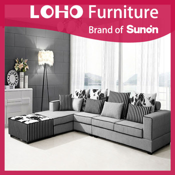 New model furniture living room sofa set modern fabric for New model living room furniture