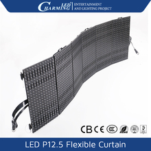 low price led curtain flexible P9 p12 p18mm RGB portable led curtain colorfull display led for wedding backdrop curtain
