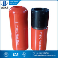 Cementing type float collar float shoe for oil drilling cementing jobs