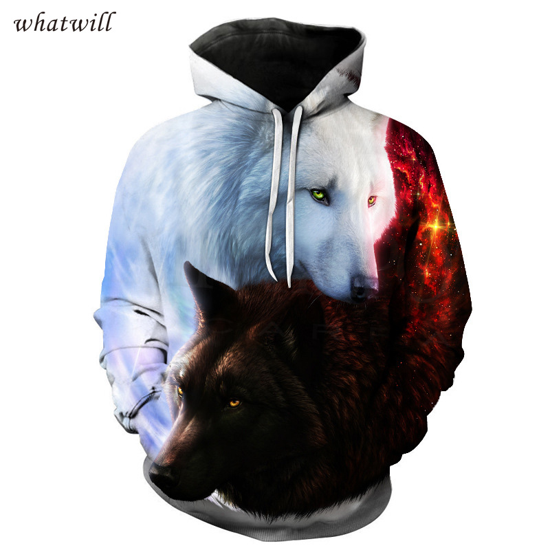 hip hop 3d wolf hoodies & sweatshirts fashion hoodies casual sweatshirt hoody pullovers sudadera hombre