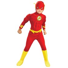 The flash Muscle Chest Kids DC comic Superhero fancy dress fantasia halloween disfraces for child fantasy boy's cosplay clothing