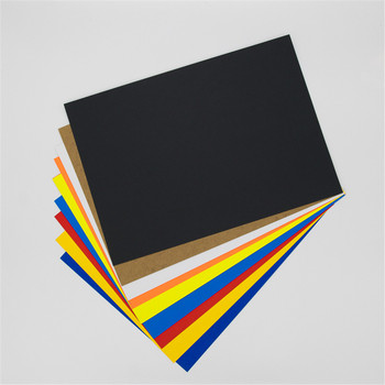 Color paper cardboard leather look paper