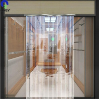 Transparent Standard Flexible Plastics Rolls PVC Door Curtains