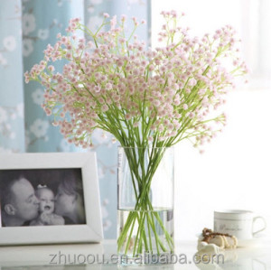 Baby Breath/Gypsophila Artificial Flowers Fake Silk Plants Wedding Party Decoration PU Real Touch Flowers DIY Home Garden