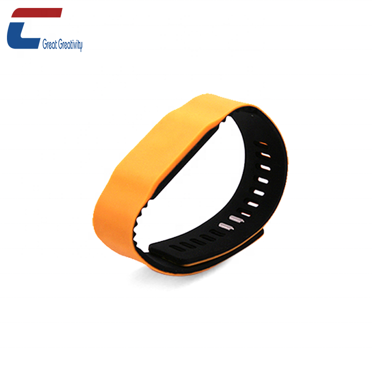 Practical Rfid Bracelet 13.56mhz I-code 2 Soft Silicon Rfid Wristband For Electronic Safe Lock Access Control