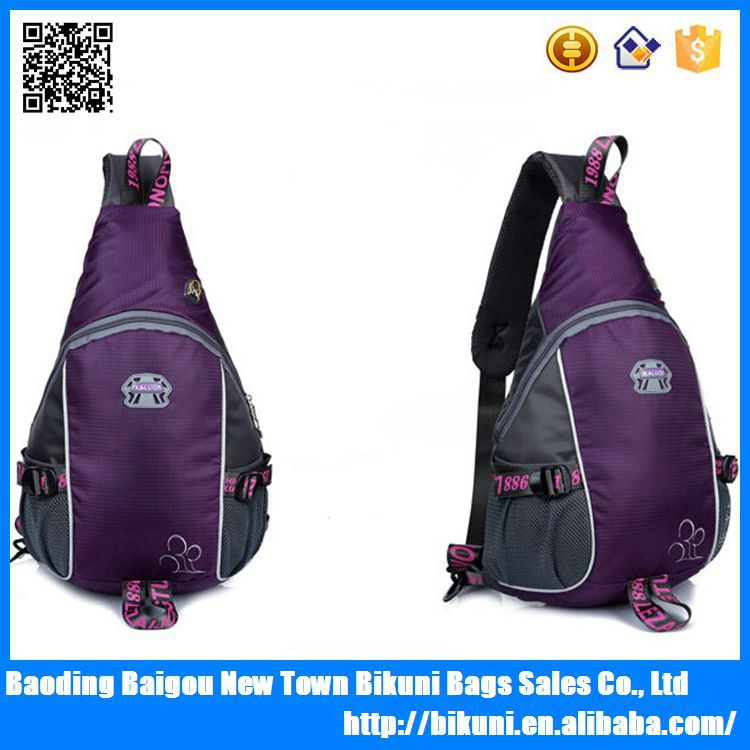 Fashion custom logo nylon outdoor daily cycling sling one strap backpack for unisex