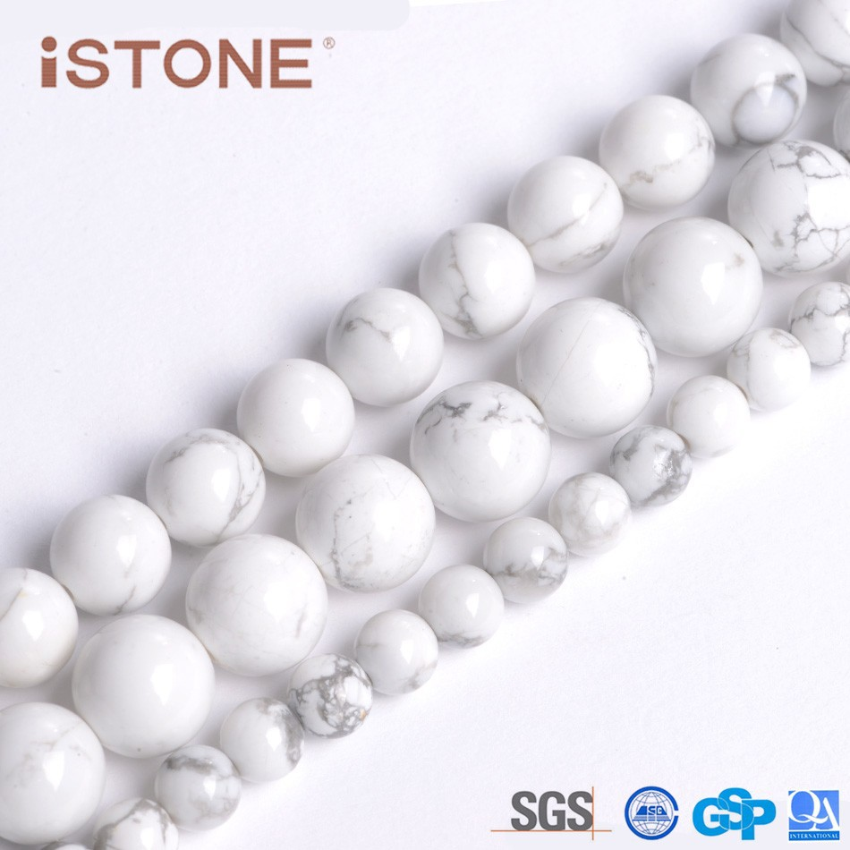 Wholesale 6MM Howlite Round Beads Natural <strong>Stone</strong>