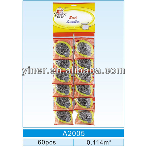 Kitchen cleaning galvanized iron scourer