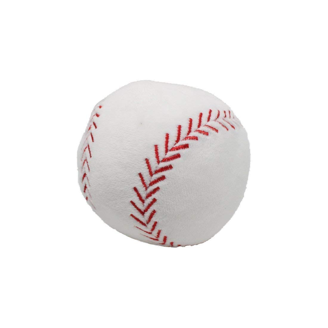 CatchStar Toy Baseball Plush Fluffy Stuffed Sports Ball Soft Durable Sports Toy Gift for Kids White 4""