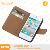 BRG Top Quality Leather Flip Case For iPhone 4 With Credit Card Holder