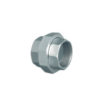 ASME thread malleable iron union with flat seat high pressure threaded pipe union