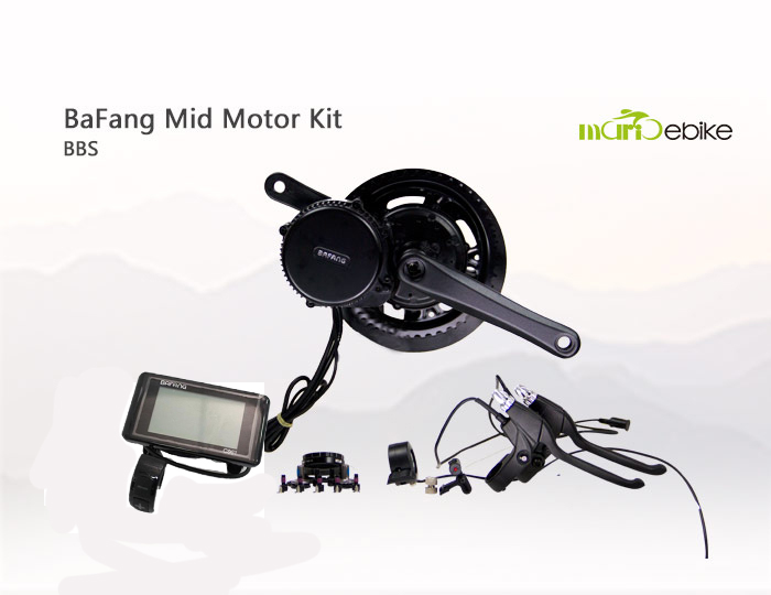 8 Fun/Bafang Electric Bike Set 250W Mid Drive Motor/Engine Conversion Kits