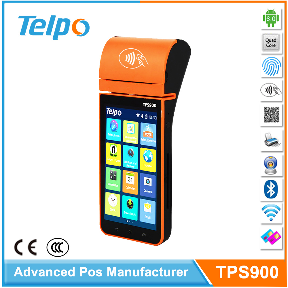 China Manufacturer supplies TPS900B Eco-friendly Android Point of Sale device For online booking movie ticket