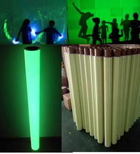 high light photoluminescent luminous pvc sheeting film vinyl / 3m glow in the dark vinyl