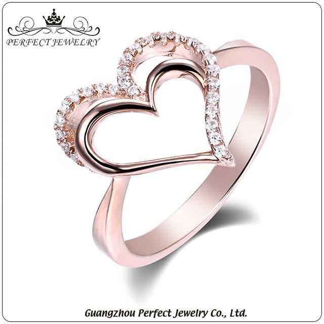 China Heart Shape Gold Ring Wholesale 🇨🇳 Alibaba