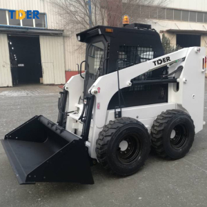 TIDER 850kg 1 ton Mini Chinese Skid Steer Loader with enclosed cab