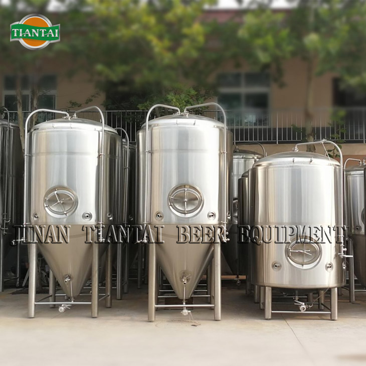 5000L cooling jacket conical fermenter