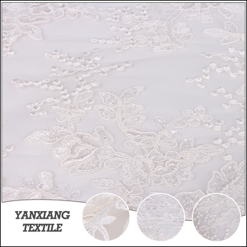Lace Suppliers Cheap Embroidery Bridal Polyester Lace Fabric Wholesale