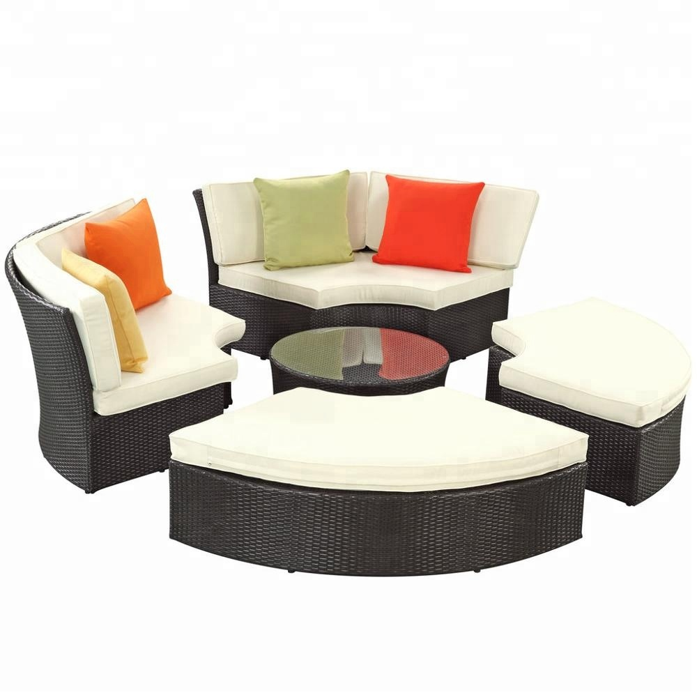 Green top sale resin wicker hotel pool furniture
