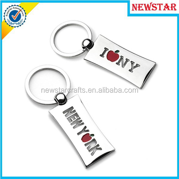 Cheap enamel New York design souvenir gift keychain manufacturers