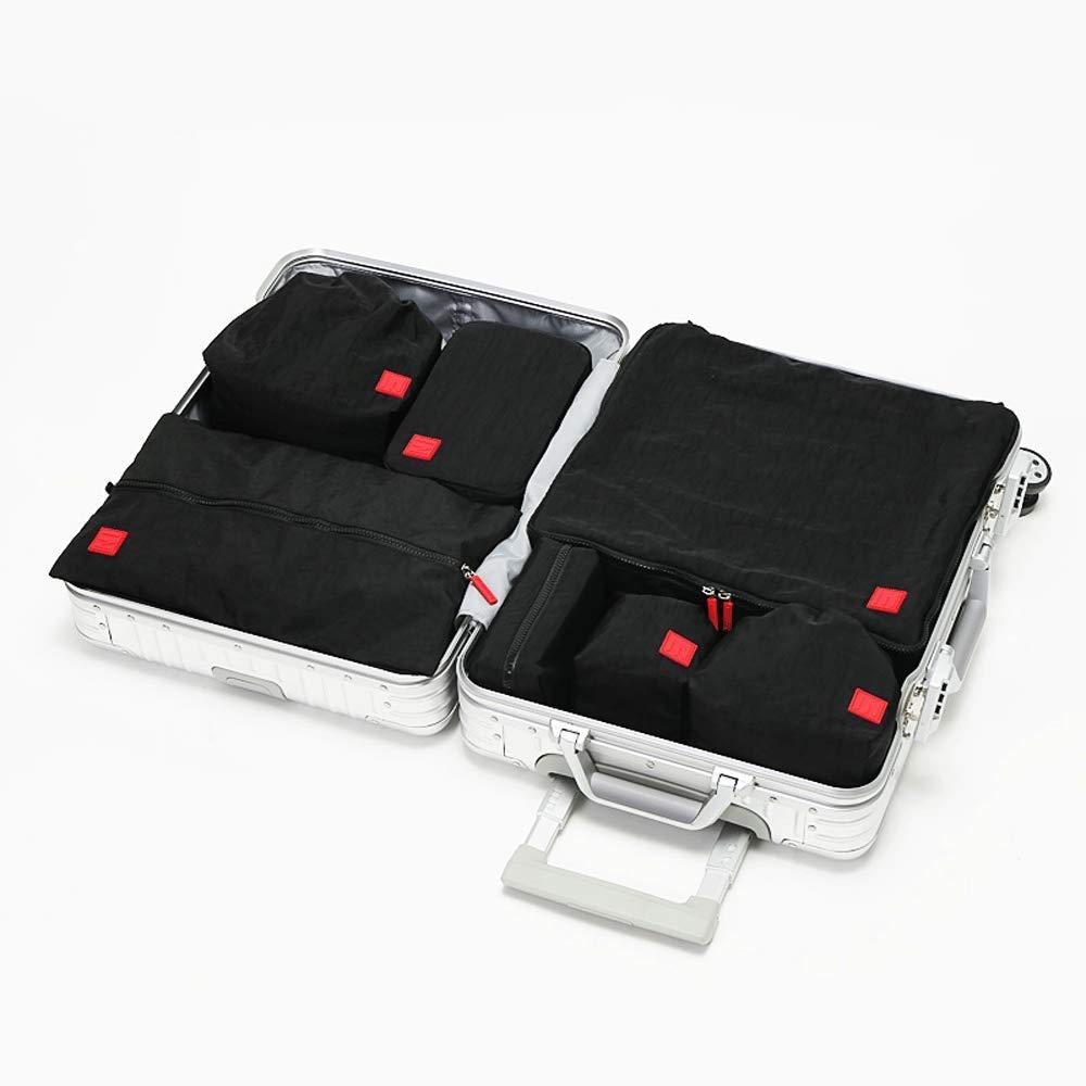 Lilongjiao 7-Piece Storage Bag - Foldable Travel Storage Luggage Storage Bag Travel Bag Shoe Bag (Color : Gray)