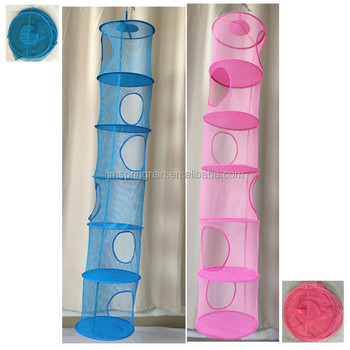 Superieur 6 Shelf Round Mesh Hanging Toy Organizer View Larger Image Kids 6 Shelf Mesh  Storage Closet