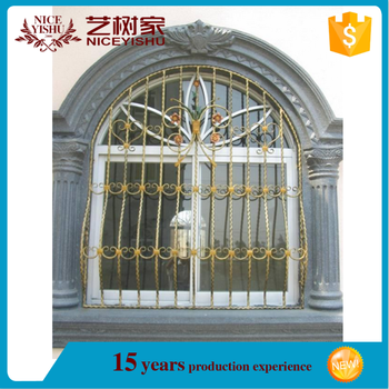 Indian Style Wrought Iron Window Grill Design 10